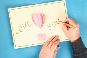 DIY Valentines Day greeting card on