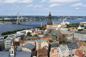 Bird's-eye view of Riga, Latvia