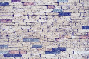Vintage wall from bricks