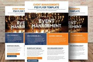 Wedding Event Management Flyer