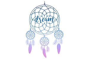 Dream catcher with calligraphy sign