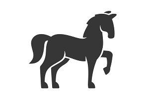 Horse Black Silhouette Icon