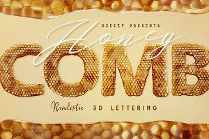 Honeycomb - 3D Lettering