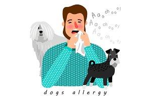 Dogs allergy desease