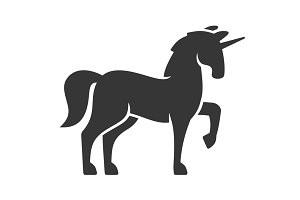Unicorn Silhouette Icon