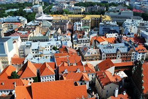 Riga old-town view, Latvia