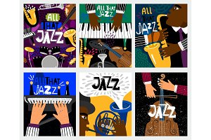 Jazz music banners