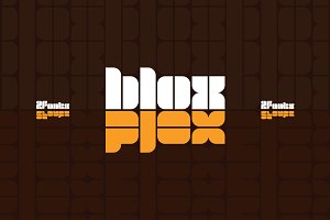 Blox | Retro Display | 2 Fonts