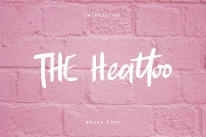 THE Heattoo BRUSH FONT