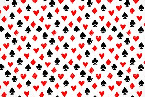 Playing cards suits seamless pattern