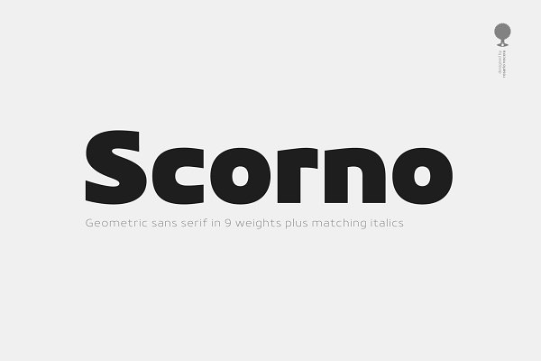 Sans Serif Fonts: Rosario Nocera - Scorno / Geometric Sans Serif Font F
