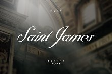 Saint James /The Blessed Script Font