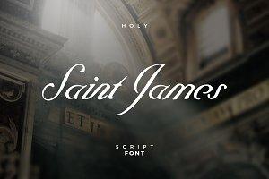 Saint James /The Blessed Script Font