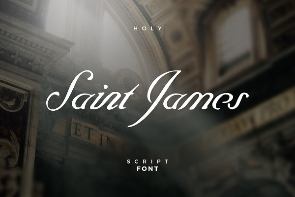 Script Fonts: TimmDesign - Saint James /The Blessed Script Font