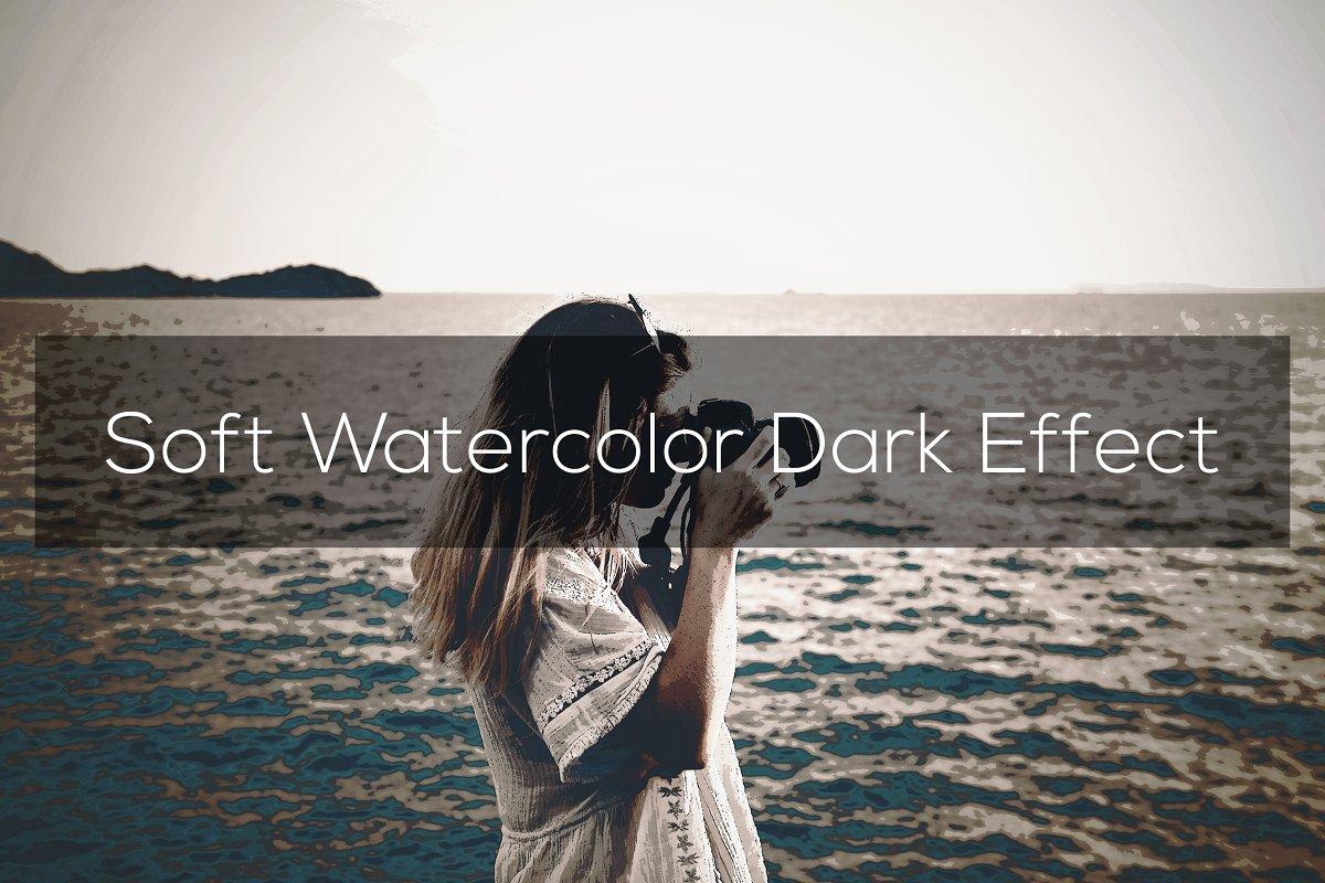 Soft Watercolor Dark Effect