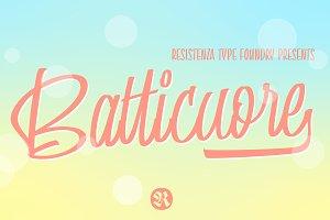 50%off - Batticuore Script 3 fonts!