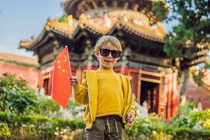 Enjoying vacation in China. Young