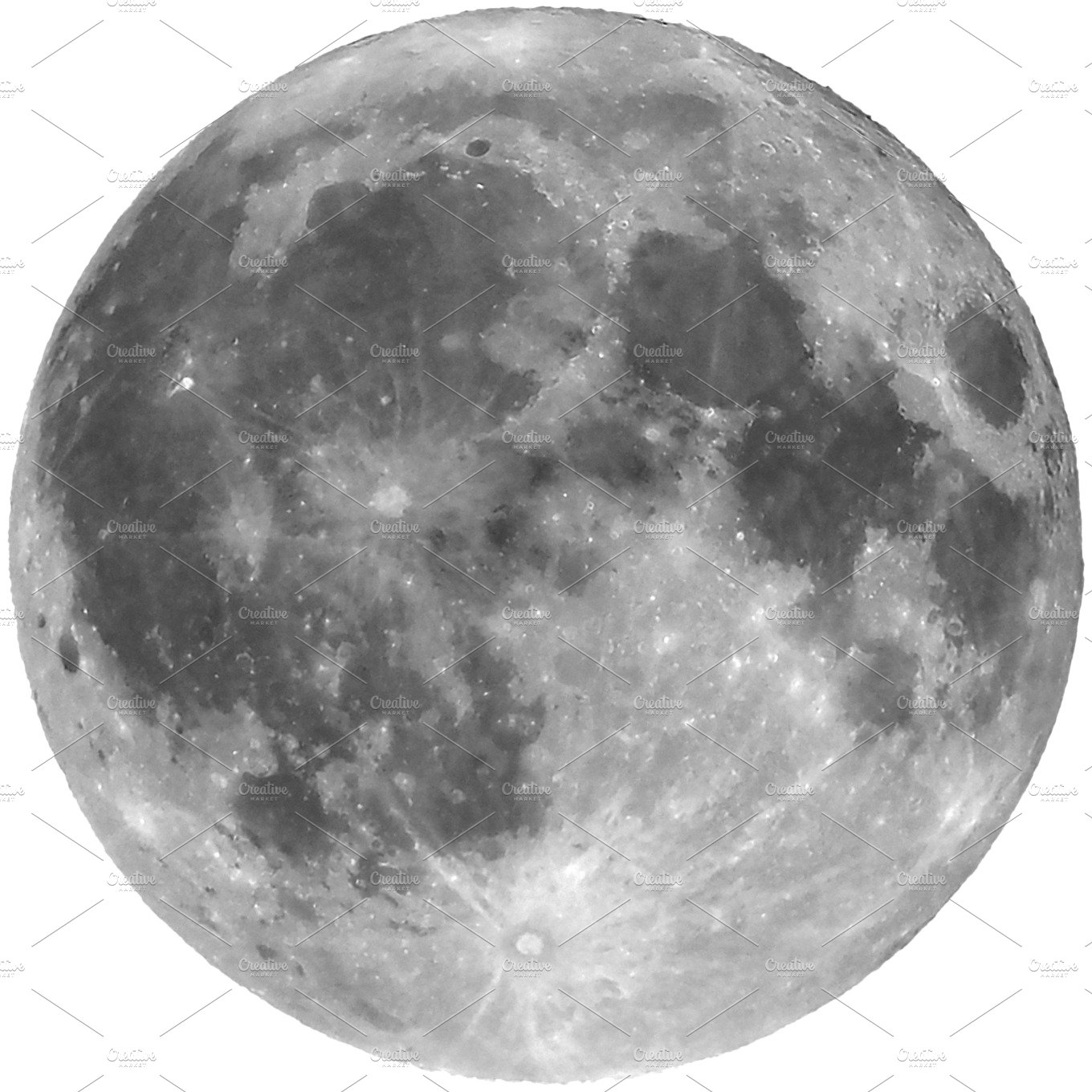 Full moon isolated - transparent PNG ~ Graphic Objects ...