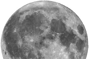 Full moon isolated - transparent PNG