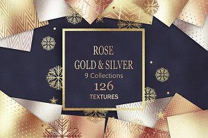 Rose Gold Bronze Silver Textures