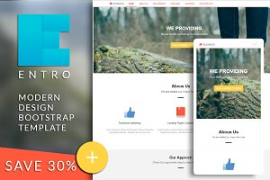ENTRO Bootstrap html template