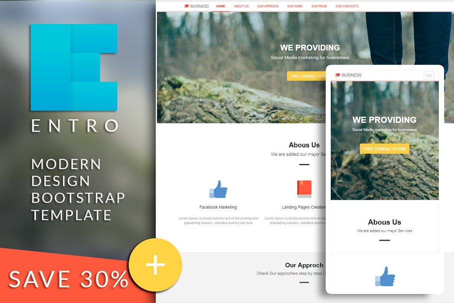 ENTRO Bootstrap html template