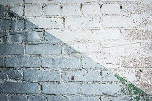 2 Toned Painted Brick Wall