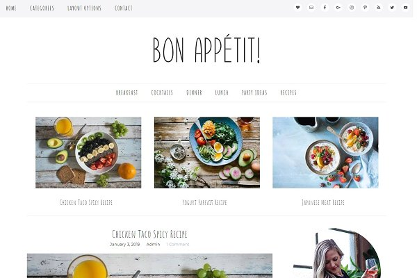 Wordpress Theme Bon Appetit