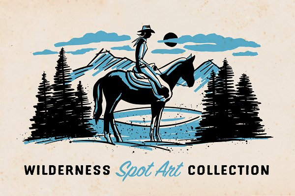 Illustrations: Trailhead Design Co. - Wilderness Spot Art Collection