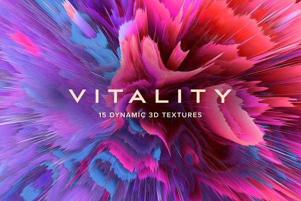Textures: Chroma Supply - Vitality: 15 Dynamic 3D Textures