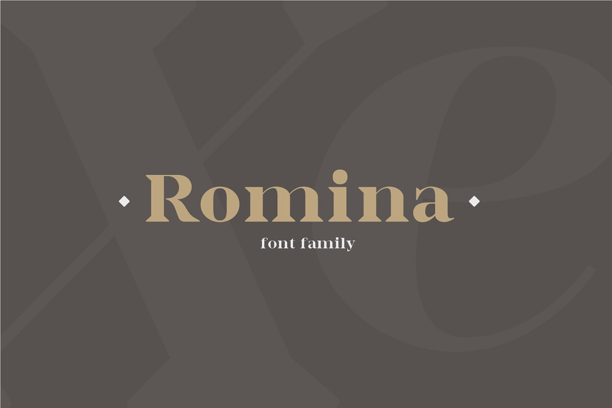 Romina / Neoclassical font family