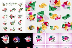 43 geometric infographic layouts