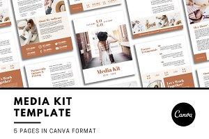 Canva Media Kit Template 5 Pg