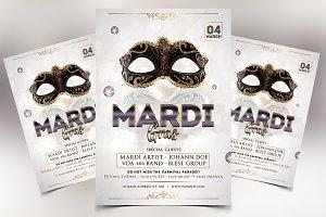 Mardi Gras Elegant PSD Flyer