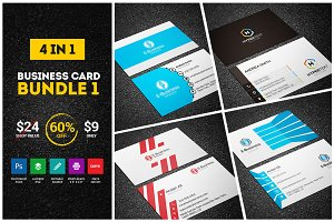 4 Creative Business Cards - Bundle 1
