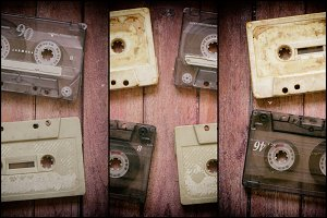 Old cassette tapes