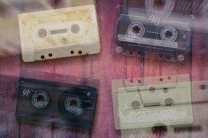 Old cassette tapes