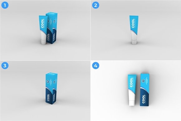 Toothpaste Mockups - 9 Poses in Product Mockups - product preview 1