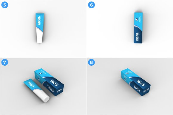 Toothpaste Mockups - 9 Poses in Product Mockups - product preview 2