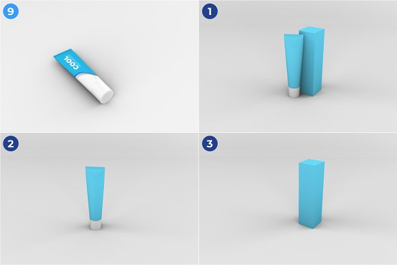 Toothpaste Mockups - 9 Poses in Product Mockups - product preview 3