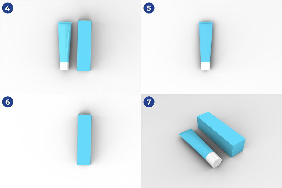 Toothpaste Mockups - 9 Poses in Product Mockups - product preview 4