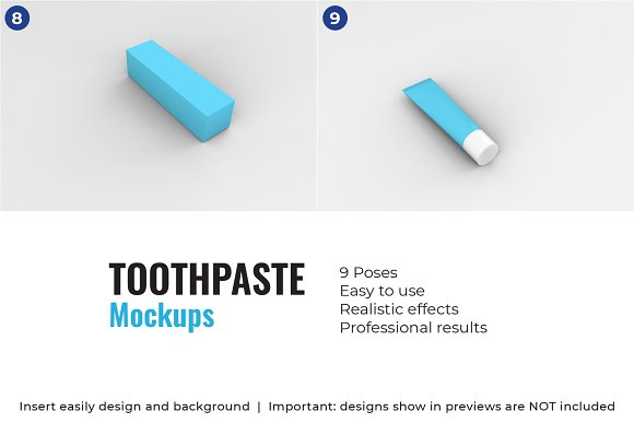 Toothpaste Mockups - 9 Poses in Product Mockups - product preview 5