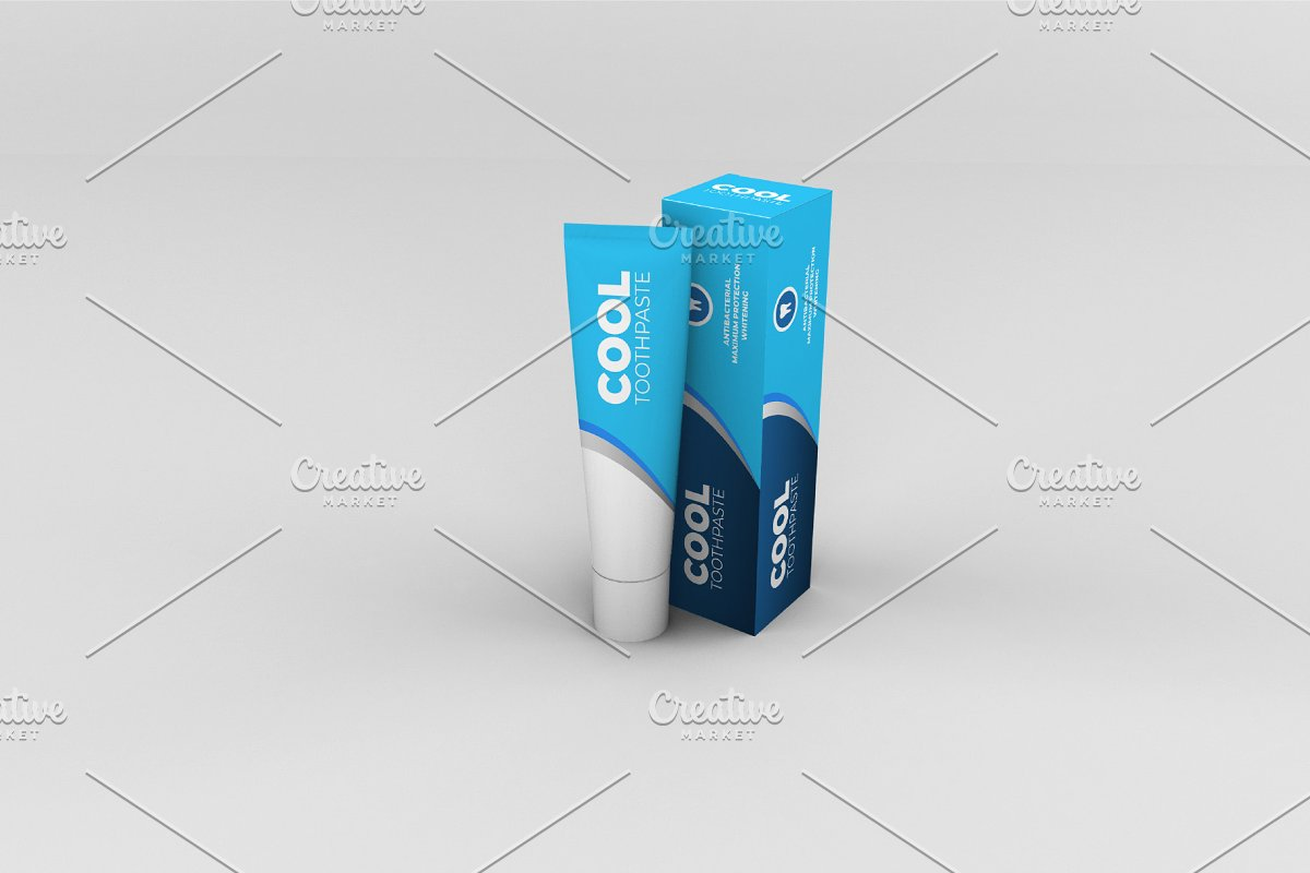 Toothpaste Mockups - 9 Poses in Product Mockups - product preview 6