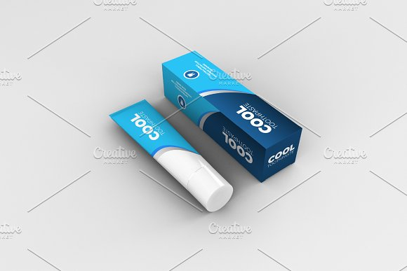 Toothpaste Mockups - 9 Poses in Product Mockups - product preview 7