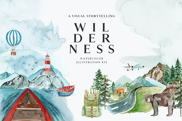 Illustrations: Little Magic Box - WILDERNESS. A Visual Storytelling