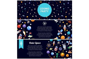 Cosmo Party Banners Set