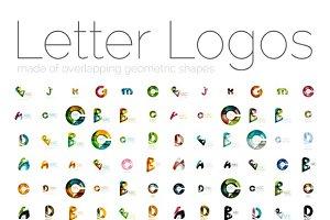 144 geometric letter logos