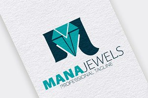 M Letter Diamond Logo
