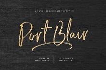 Port Blair / Script Font + Bonus