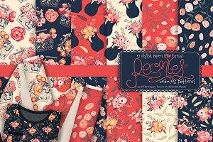 Peonies 015 - Seamless Patterns